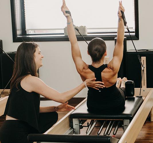 Pilates Mat Class Description: Intensive Pilates Mat + Reformer Teacher Training Begins
